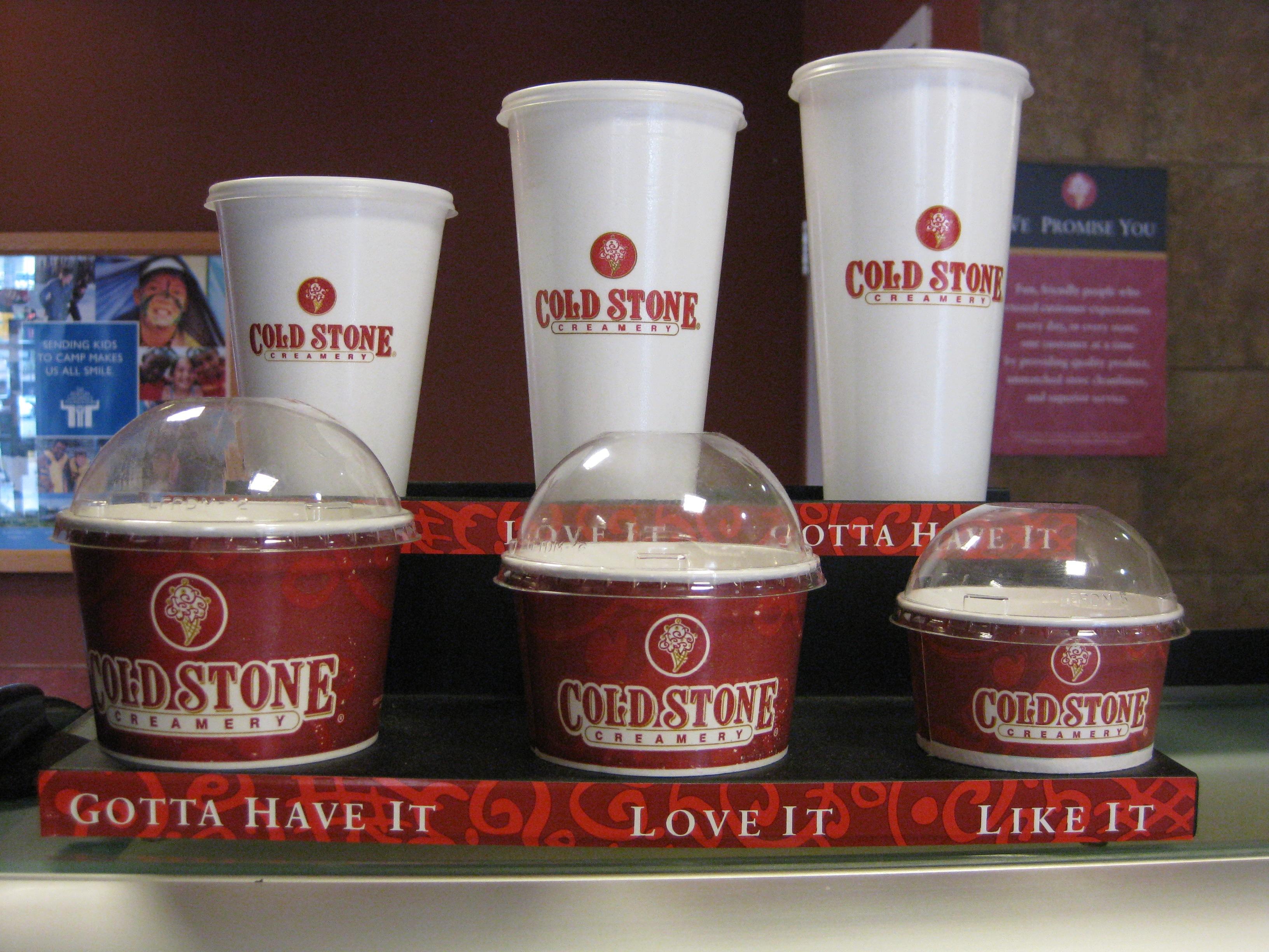 Cold Stone Ice Cream Cake Sizes